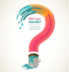 question mark - color splash creative concept vector image vector image