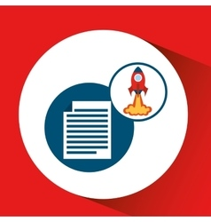 Rocket launch start up business document graphic vector