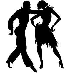 Samba silhouette vector image