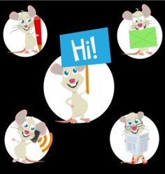 sweet mouse mascot vector image vector image