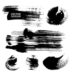 Thick strokes of black paint on textured paper vector image