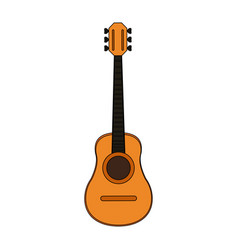 colorful silhouette acoustic guitar musical vector image