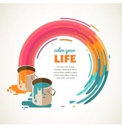 Design creative idea and color concept vector image vector image
