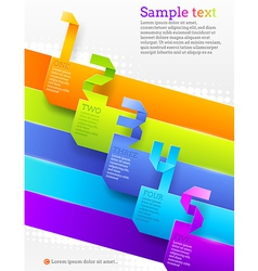 Graphic template with numbered banners vector image vector image