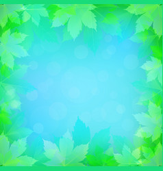 spring or summer background with bokeh lights vector image vector image