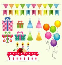 Birthday Celebration Elements vector image