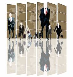 business world vector image vector image