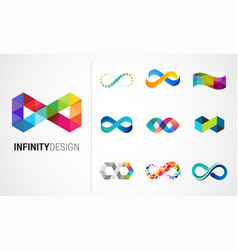 colorful abstract infinity endless icon vector image vector image