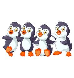funny penguins cartoon set character vector image vector image