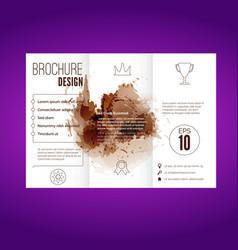 modern splatter pattern brochure design vector image vector image