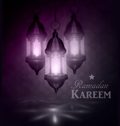 ramadan kareem greetings vector image vector image