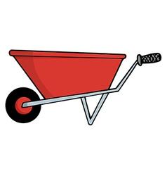 wheel barrow cartoon vector image vector image