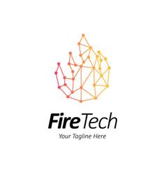 Abstract fire for tech company fire logo design vector