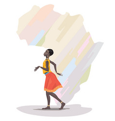 african girl dancing vector image