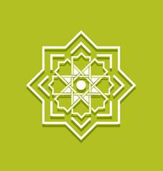Arabic floral border islamic pattern vector