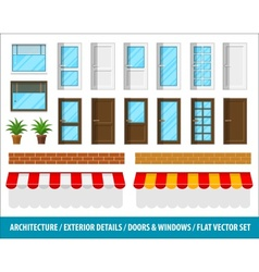 Architectural details for house vector image