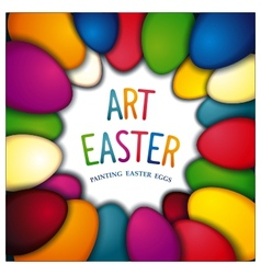 Art Easter background vector