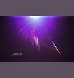 Aurora borealis transparent light effect vector