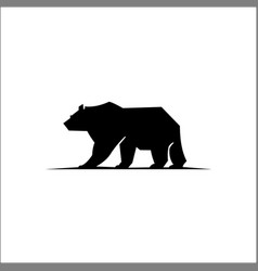 Bear silhouette logo animalssilhouette a vector