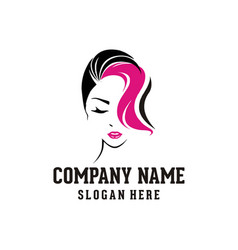 beauty woman face logo vector image