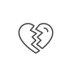 break up love line icon divorce sign vector image
