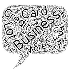 Business Credit Cards and How They Benefit Your vector image