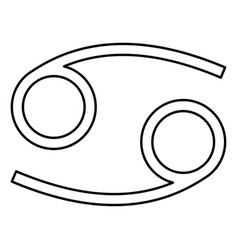Cancer zodiac symbol crawfish sign icon black vector
