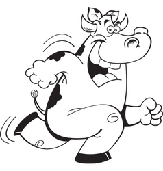 Cartoon Running Cow vector image