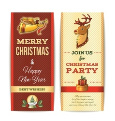 Christmas banner vertical vector image