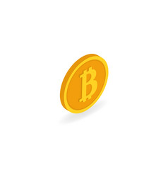 coin bitcoin on a white background isometric vector image