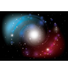 Colorful spiral galaxy vector