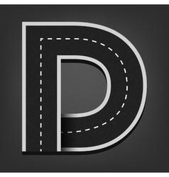 D letter Road font vector image