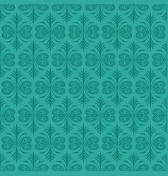 Dark jade ornamental background with teal fur vector