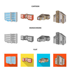 Design of facade and housing sign set of vector