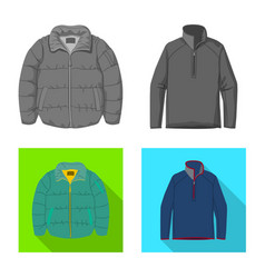 Design of man and clothing icon set of man vector