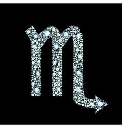 Diamond Scorpio Symbol vector image
