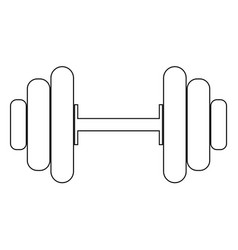 dumbbell the black color icon vector image