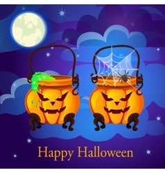 Evil twin pumpkin in the form of boilers vector image