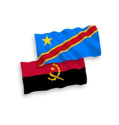 Flags democratic republic congo vector