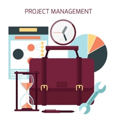 flat design project management vector image