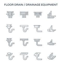 Floor drain icon vector