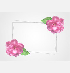 floral frame template decoration vector image