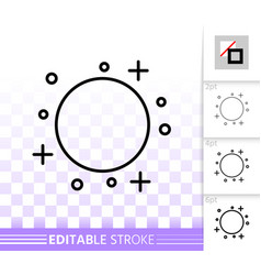 full moon simple black line icon vector image