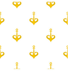 gold anchor pattern flat vector image