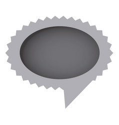 grayscale oval cloud chat bubble vector image