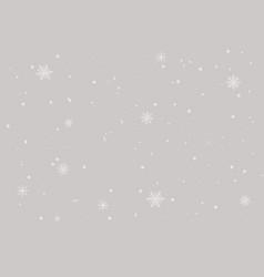 Grey snowflake bg vector