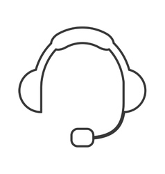 Headset silhouette icon vector