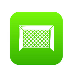 hockey gate icon green vector image