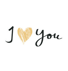 i love you abstract poster valentine s day vector image
