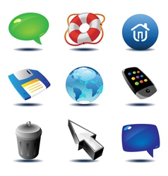 Icons for interface vector